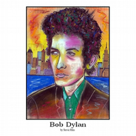 Bob Dylan  - A3 Signed Limited Edition Print