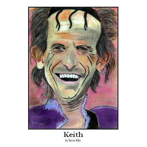 Keith Richards - A3 Signed Limited Edition Print