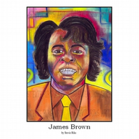 James Brown - A3 Signed Limited Edition Print