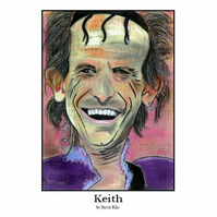 Keith Richards A4 Print
