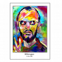 Ringo Starr   - A3 Signed Limited Edition Print