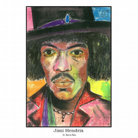 Jimi Hendrix - A3 Signed Limited Edition Print
