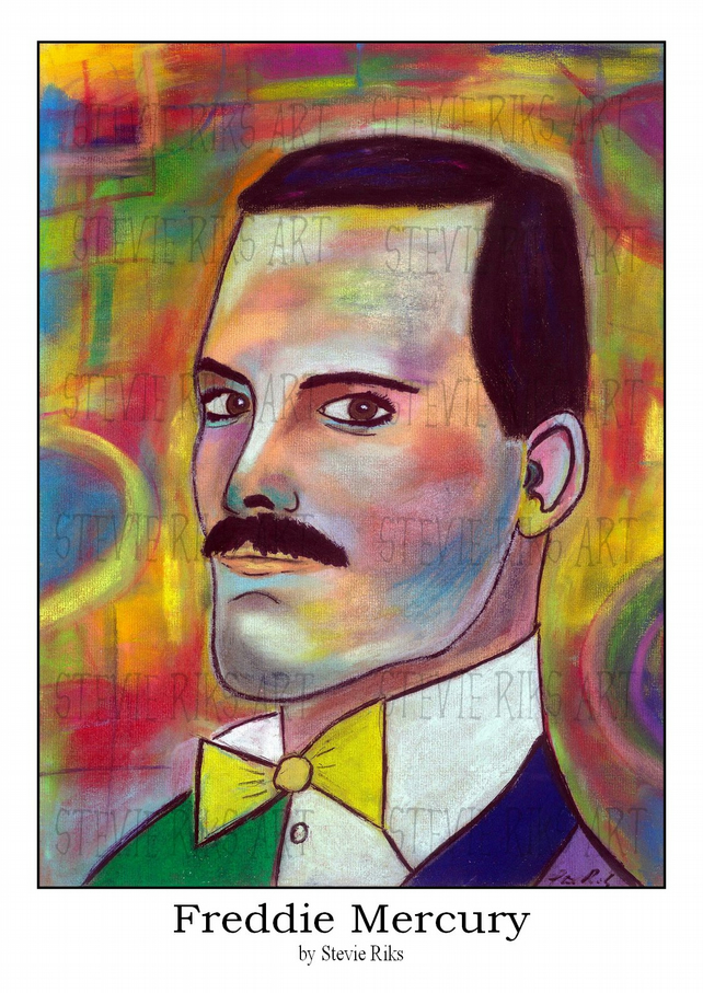 Freddie Mercury - A3 Signed Limited Edition Print