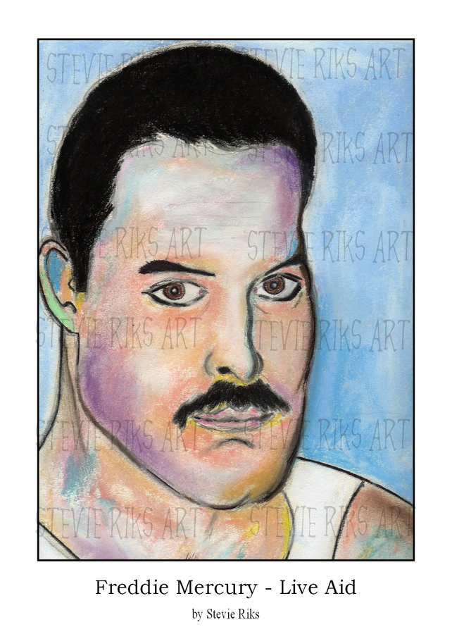 Freddie Mercury Live Aid - A3 Signed Limited Edition Print