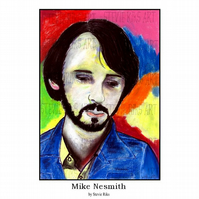 Mike Nesmith - A3 Signed Limited Edition Print