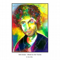 A4 Print - Bob Dylan - Blood on the Tracks