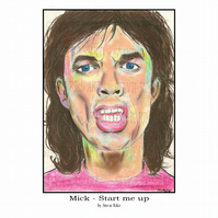 A4 Print - Mick Jagger - Start me up