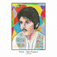 A4 Art Print - Paul McCartney - Sgt Pepper