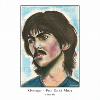 George Harrison - Far East Man - A3 Art Print