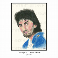 A4 Print - George Harrison - Cloud 9