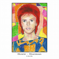 A4 Print  - David Bowie - Starman