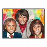 A4 ART PRINT - THE BEE GEES