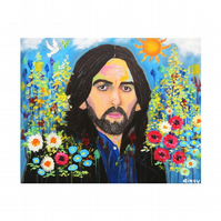 GEORGE HARRISON - HERE COMES THE SUN - ART PRINT WITH MOUNT