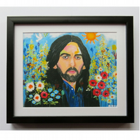 George Harrison Art Print with Mount