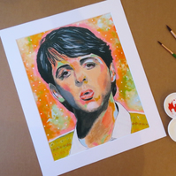 PAUL MCCARTNEY - ART PRINT WITH MOUNT