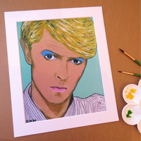 DAVID BOWIE - ORIGINAL ART PRINT WITH MOUNT