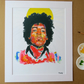JIMI HENDRIX - ART PRINT WITH MOUNT