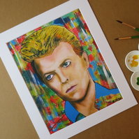 DAVID BOWIE - ART PRINT WITH MOUNT