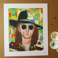 JOHN LENNON - ART PRINT WITH MOUNT
