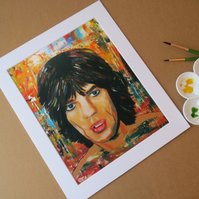 MICK JAGGER - ART PRINT WITH MOUNT