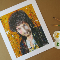 BOB DYLAN - ART PRINT WITH MOUNT