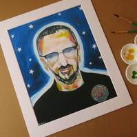 RINGO STARR - ART PRINT WITH MOUNT