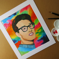 BUDDY HOLLY - PRINT WITH MOUNT