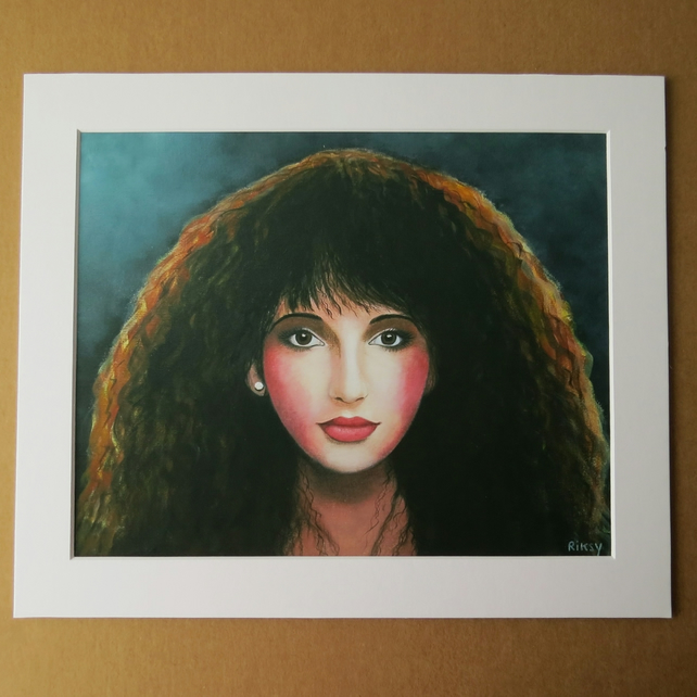 KATE BUSH - ART PRINT WITH MOUNT