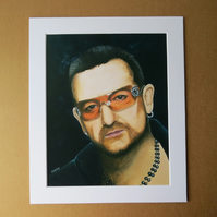 BONO - ART PRINT WITH MOUNT