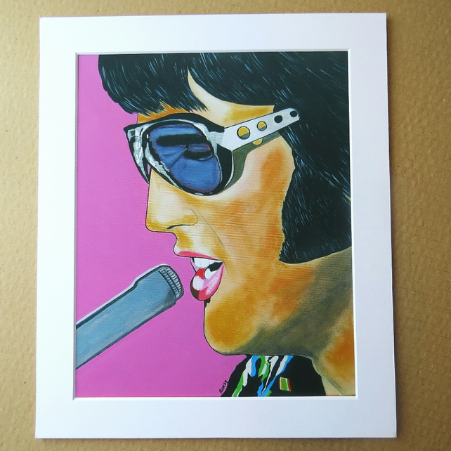 ELVIS PRESLEY - THE WONDER OF YOU - ART PRINT WITH MOUNT