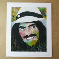 GEORGE HARRISON - ABSTRACT ART PRINT WITH MOUNT