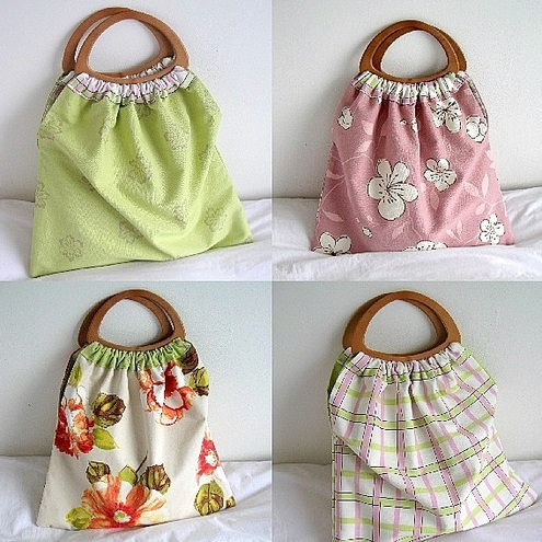 Knitting Bag Pattern To Sew : PDF Reversible Craft/Knitting Bag Sewing Patter... - Folksy