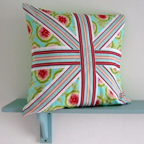 Knitting Pattern Union Jack Cushion Cover : PDF Sewing Pattern Envelope Style Union Jack Cu... - Folksy