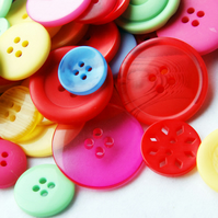 Neon Bright Buttons X 50g Button Bag