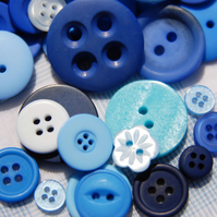 30g Beautiful Blue Buttons
