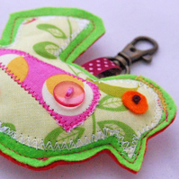 SALE- Birdy Key Charm x green