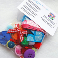 Summertime Supplies Party Bag- Buttons X Ribbons X Bows.