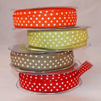 Polka Dot Grosgrain x 4 Metres- YOUR CHOICE
