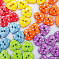 Your Favourite Polka Dot Heart Buttons X 60