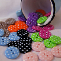 Dotty Spotty Button Mixture X 32- Medium 18mm