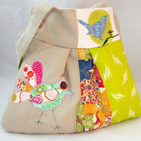 Patchwork Bird Bag