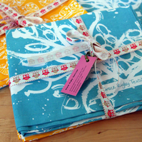 Tea Towel Bundle X Two Tea Towels. One of each of my designs.
