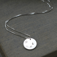 Sterling Silver Falling Leaves Necklace (Free UK Postage)