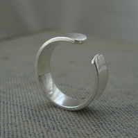 Sterling Silver Ring - Wide Band (Free UK Postage)