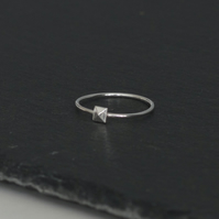Sterling Silver Pyramid Ring (Free UK Postage)