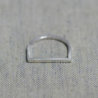 Sterling Silver D Ring (Free UK Postage)