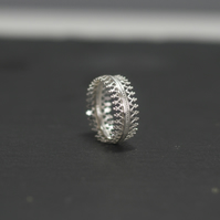 Sterling Silver Crown Ring, Statement Ring