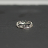 Sterling Silver Crown Ring, Statement Ring, Stacking Ring