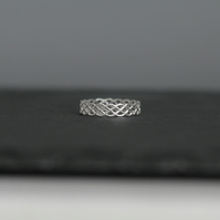 Sterling Silver Ring, Weave Ring, Stacking Ring