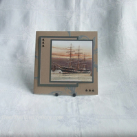 Handmade Card, Father`s Day or Man`s Birthday, Tall Ship